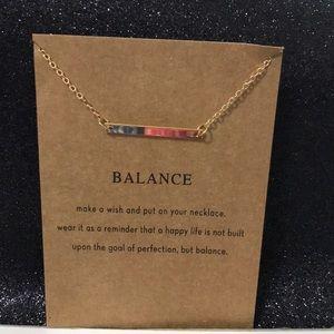 "Minimalist Dainty Necklace ""Balance"""